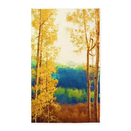 Faded Aspens 3'x5' Area Rug