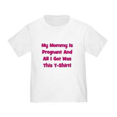 Mommy Pregnant girl pink T