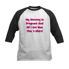 Mommy Pregnant girl pink Kids Baseball Jersey