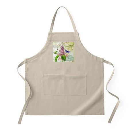 Modern vintage French botanical lilac Apron