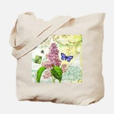Modern vintage French botanical lilac Tote Bag