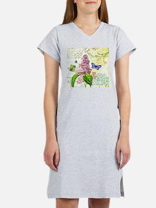 Modern vintage French botanical lilac Women's Nigh