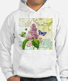 Modern vintage French botanical lilac Hoodie