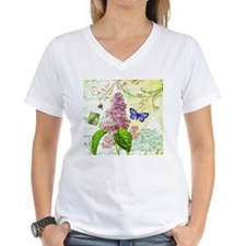 Modern vintage French botanical lilac T-Shirt