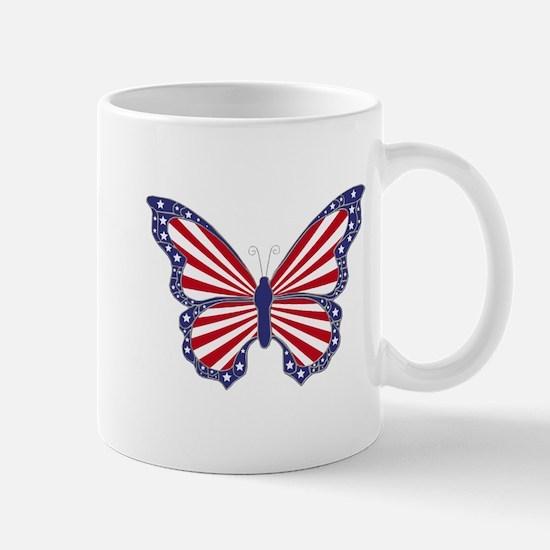 Patriotic Butterfly Mug