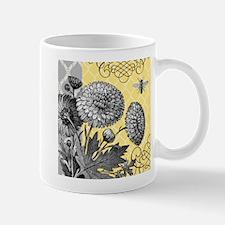Modern vintage floral collage Small Small Mug