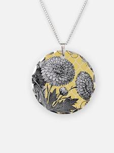 Modern vintage floral collage Necklace