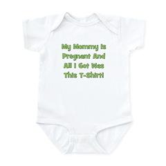 Mommy Pregnant green Infant Bodysuit