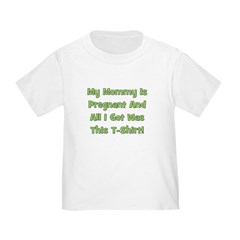 Mommy Pregnant green Toddler T-Shirt