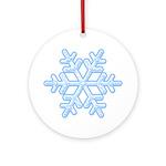 Flurry Snowflake XVIII Ornament (Round)