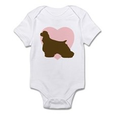 Cocker Spaniel Heart Infant Bodysuit