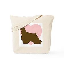 Cocker Spaniel Heart Tote Bag
