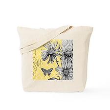 Modern vintage floral collage Tote Bag