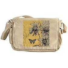 Modern vintage floral collage Messenger Bag
