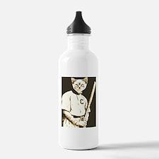 Baseball Cat Water Bottle
