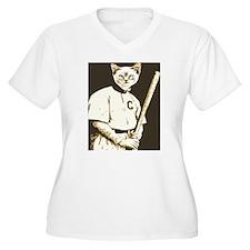 Baseball Cat Plus Size T-Shirt