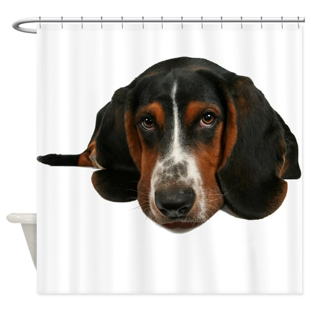 Basset Hound Shower Curtain By Theonlinezoo