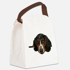 Basset Hound Canvas Lunch Bag