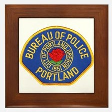 Portland Police Framed Tile