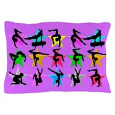 PURPLE GYMNAST Pillow Case