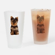 Yorkie Drinking Glass
