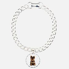 Yorkie Charm Bracelet, One Charm