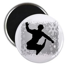 Snowboarding (Silver) Magnet