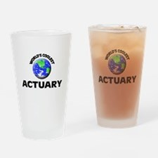 World's Coolest Actuary Drinking Glass
