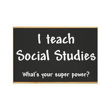 I teach Social Studies Rectangle Magnet