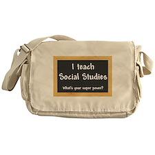 I teach Social Studies Messenger Bag