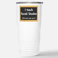 I teach Social Studies Travel Mug