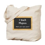Physics Canvas Totes