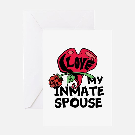 I love My Inmate Spouse Greeting Card