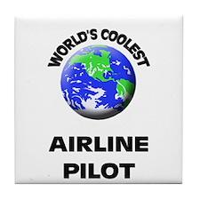 World's Coolest Airline Pilot Tile Coaster