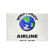 World's Coolest Airline Pilot Rectangle Magnet