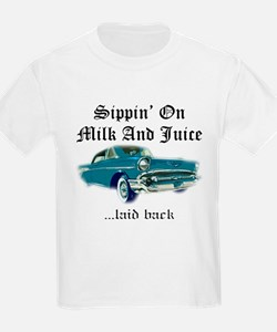 Sippin on Milk And Juice, Laid Back T-Shirt