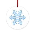 Flurry Snowflake XVII Ornament (Round)