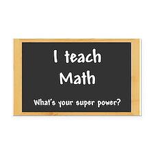 I teach Math Rectangle Car Magnet