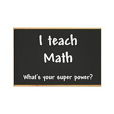 I teach Math Rectangle Magnet