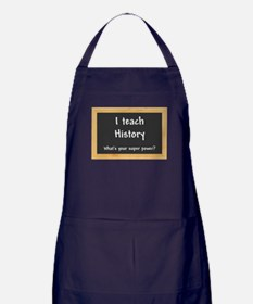 I teach History Apron (dark)