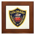 Colorado Corrections Framed Tile
