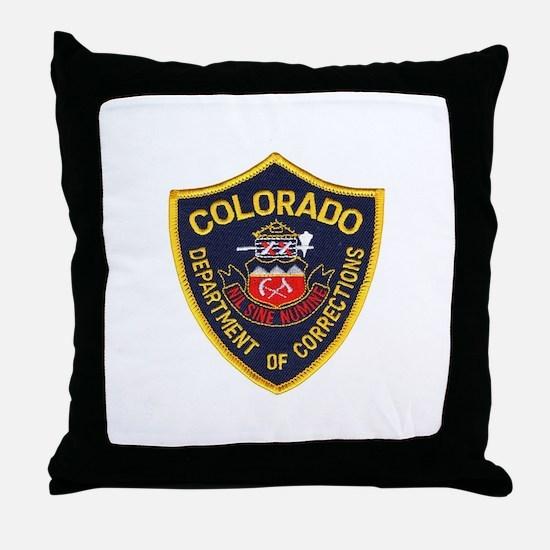 Colorado Corrections Throw Pillow