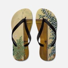 StephanieAM Wood Door Flip Flops