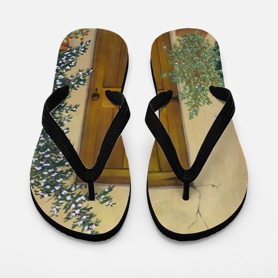 StephanieAM Wood Door Flip Flops