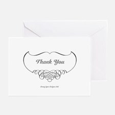 Calligraphy Wings Thank You Greeting Cards (10 pk)