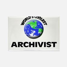 World's Coolest Archivist Rectangle Magnet
