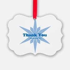 Blue Star Thank You Ornament