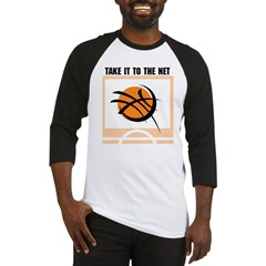 Basketball Take It To The Net Baseball Jersey