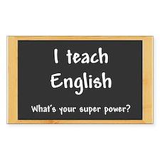 I teach English Decal
