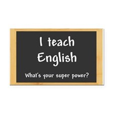 I teach English Rectangle Car Magnet